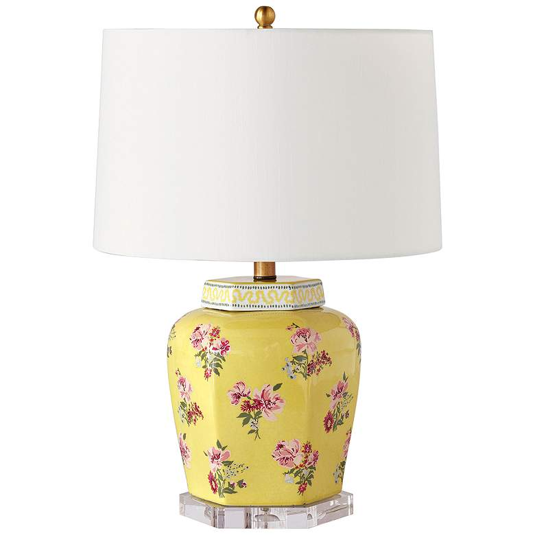 Port 68 Isleboro Eve Daffodil Yellow Porcelain Table