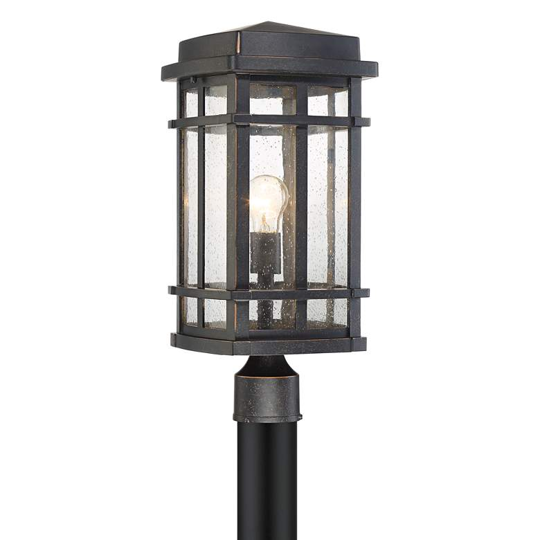 "Neri 19 1/4"" High Oil-Rubbed Bronze Outdoor Post Light"