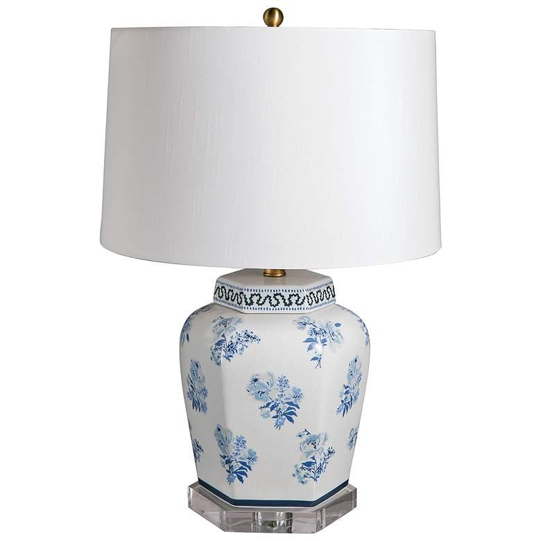 Port 68 Isleboro Eve Blue and White Porcelain Jar Table Lamp