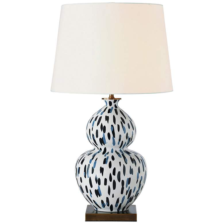 Port 68 Mill Reef Indigo Double Gourd Porcelain Table Lamp
