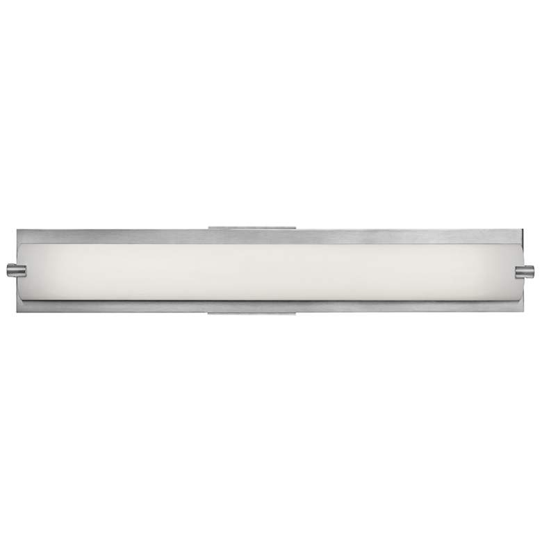 "Geneva 24 1/2"" Wide Brushed Steel Bath Light"