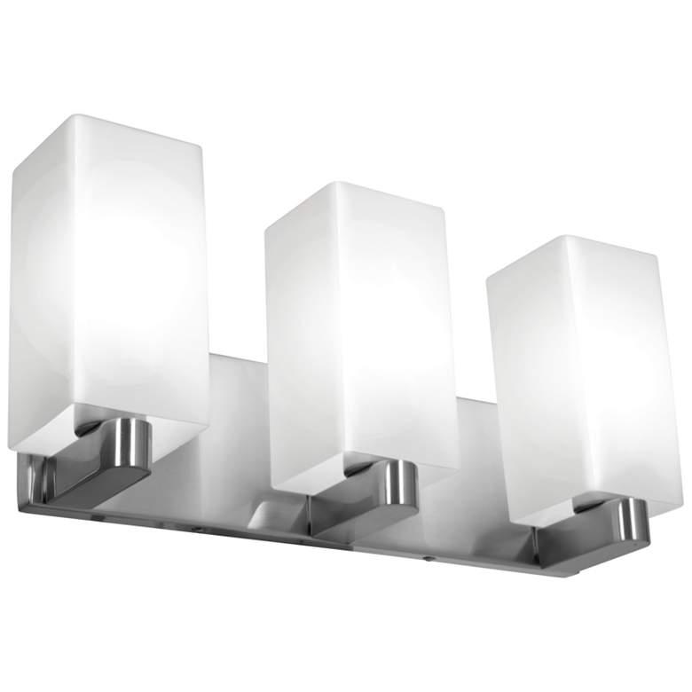 """Archi 18"""" Wide Brushed Steel 3-Light Bath Light"""
