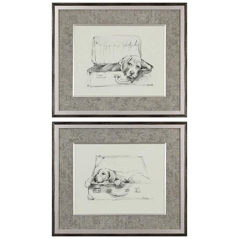 """Stowaway 26 1/4"""" Wide 2-Piece Framed Wall Art Print Set"""