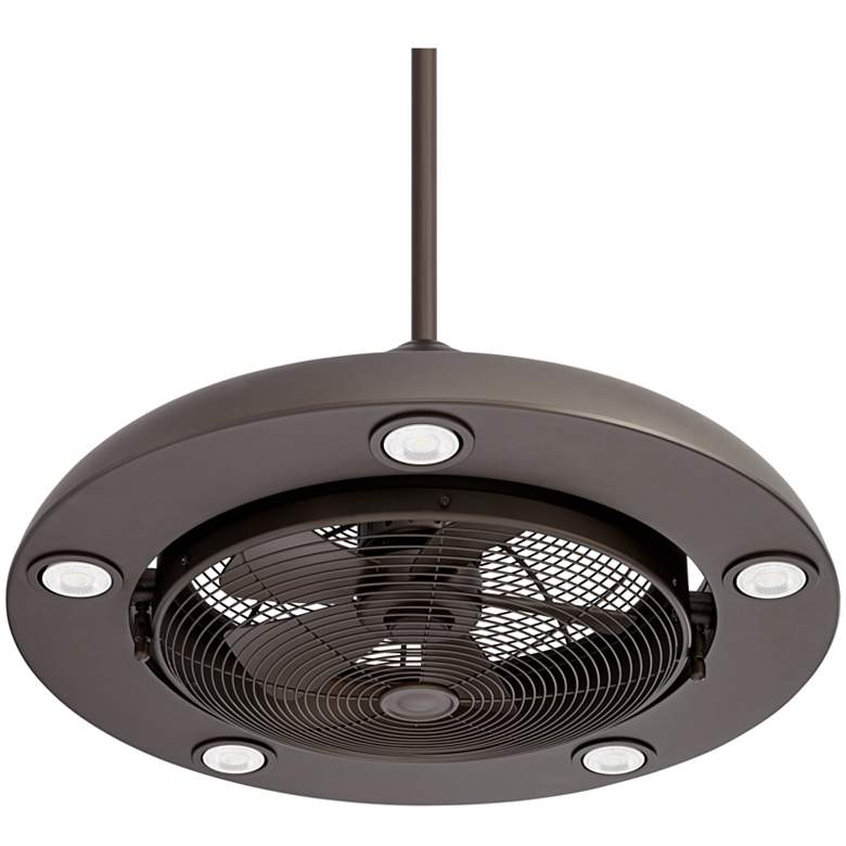 "Possini Euro Segue 24"" Wide Bronze 5-Light LED Ceiling Fan"