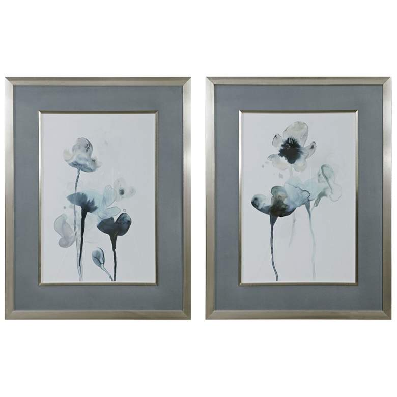 """Midnight Blossoms 35"""" High 2-Piece Framed Wall Art Print Set"""