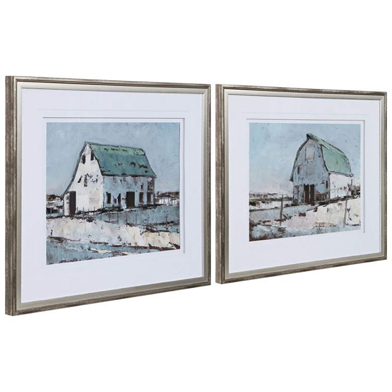 "Plein Air Barns 34 1/4""W 2-Piece Framed Wall Art Print Set"