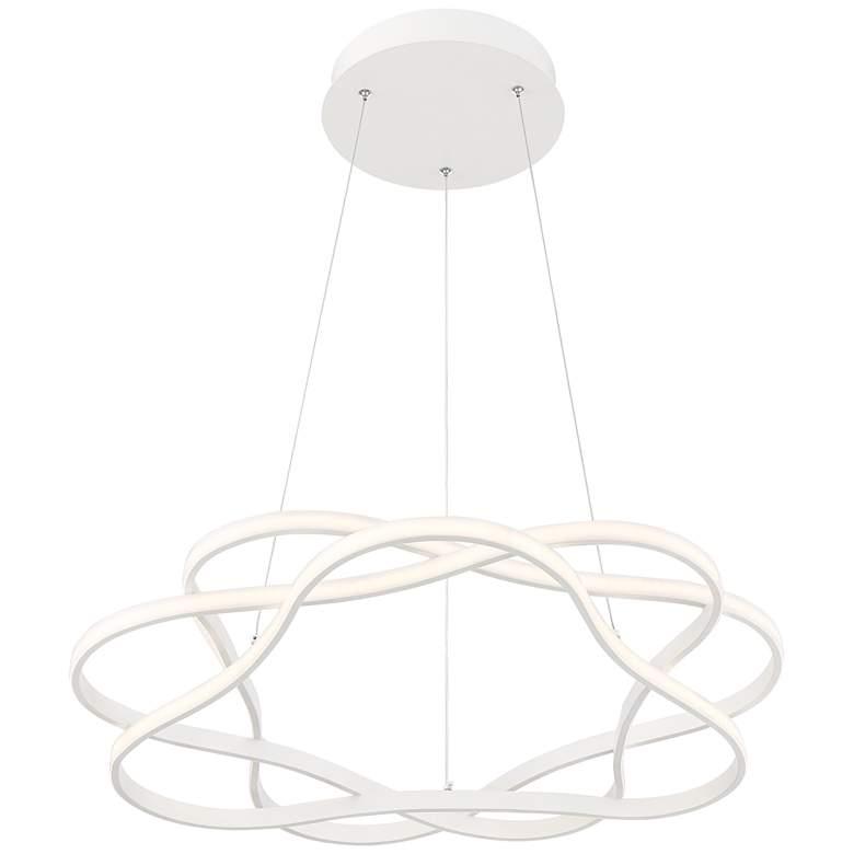"""Possini Euro Venice 24 3/4"""" Wide White 3-Ring LED Pendant"""