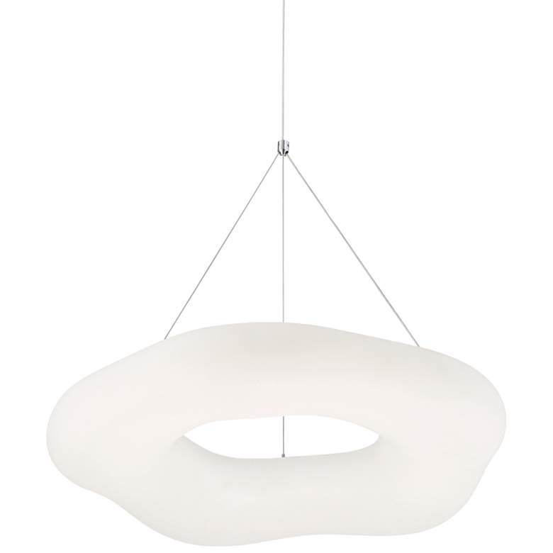 "Possini Euro Leto 21 3/4"" Wide White LED Pendant Light"