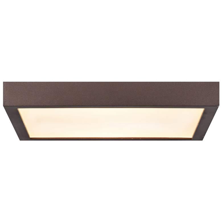 "Ulko Exterior 7"" Wide Bronze LED Outdoor Ceiling Light"