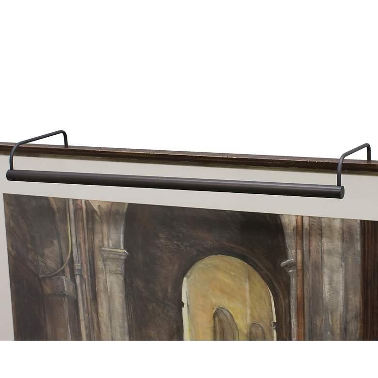 """Slim-Line 40"""" Wide Oil-Rubbed Bronze Plug-In Picture Light"""