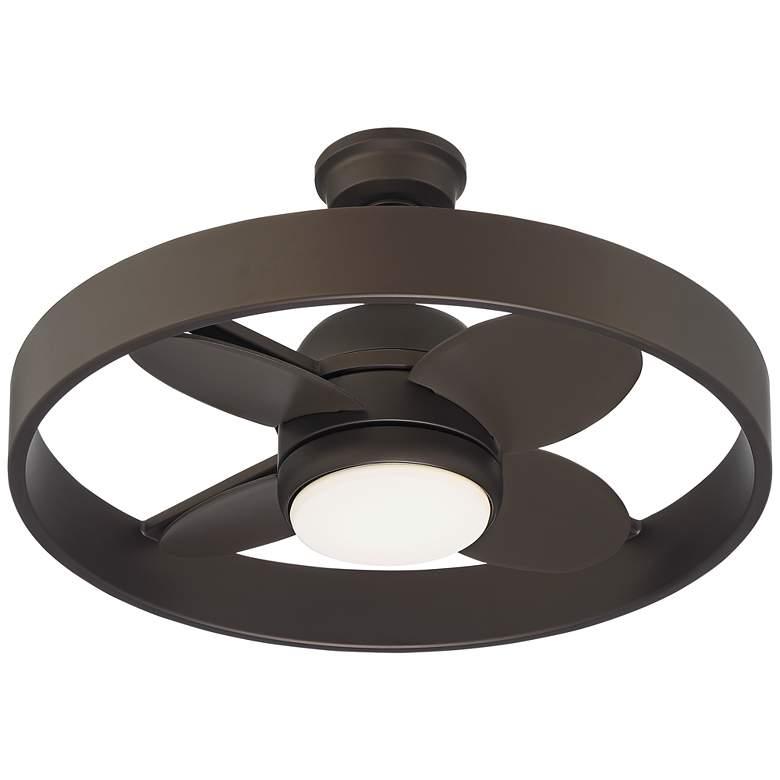 "24"" Casa Agile Bronze Circle Damp Rated LED Ceiling Fan"