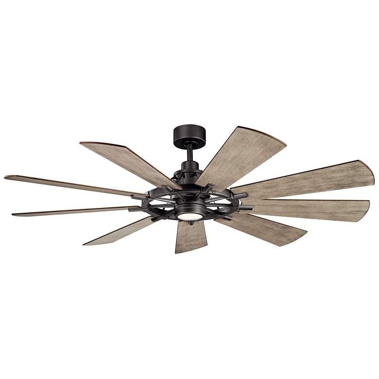 "65"" Kichler Gentry Anvil Iron LED Ceiling Fan"