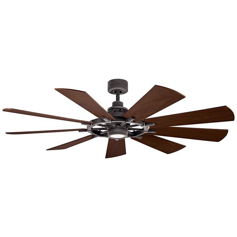 "65"" Kichler Gentry Weathered Zinc LED Ceiling Fan"