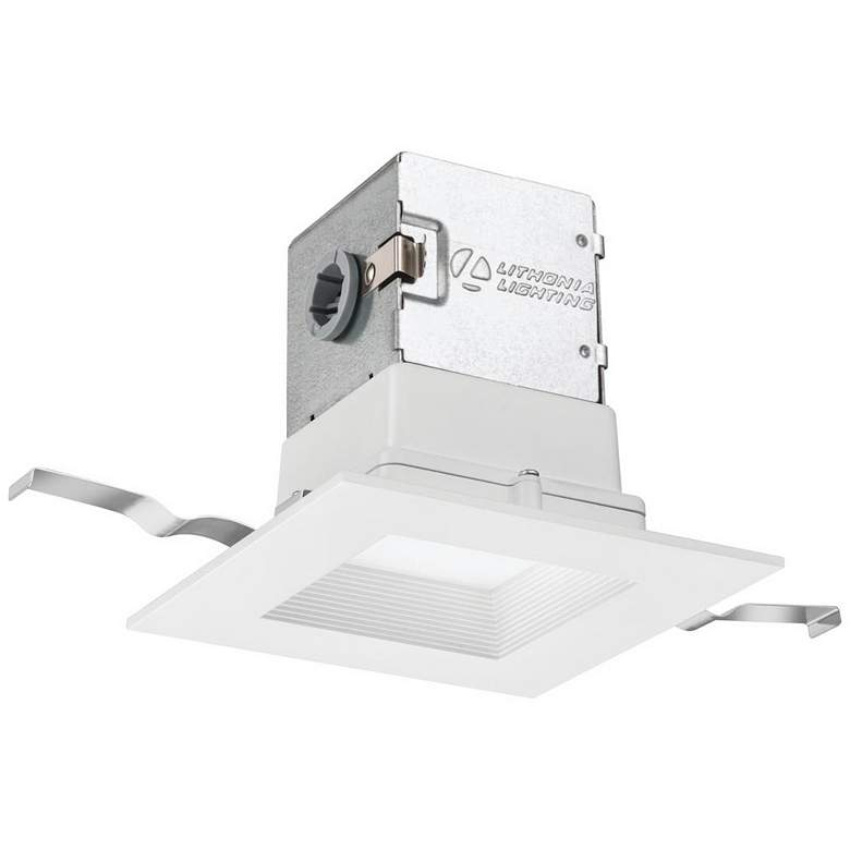 "OneUP 4"" White Square Baffle 9W Canless LED"