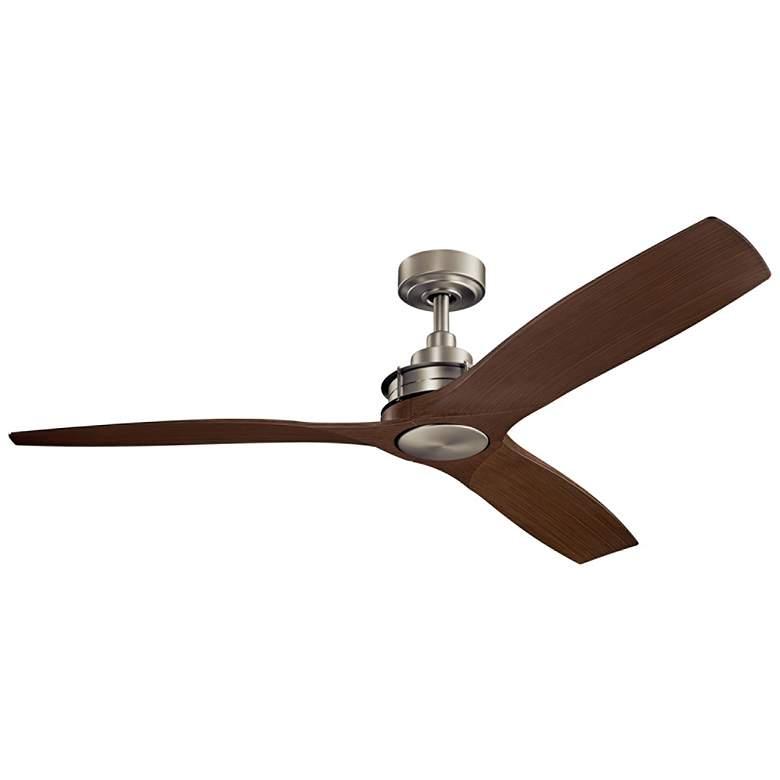 "56"" Kichler Ried Brushed Nickel Ceiling Fan"