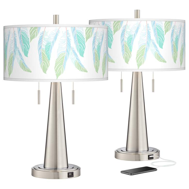 Light as a Feather Vicki Nickel USB Table