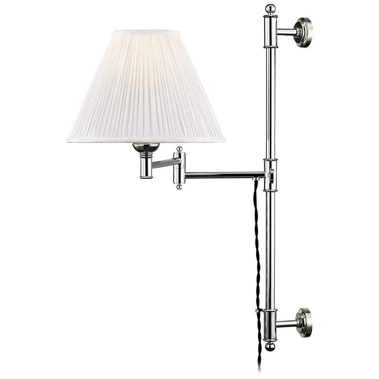 Classic No.1 Polished Nickel Plug-In Swing Arm Wall Lamp