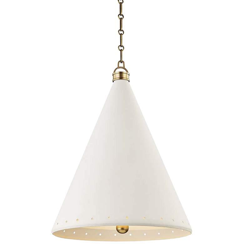 "Plaster No.1 20"" Wide Aged Brass Pendant Light"