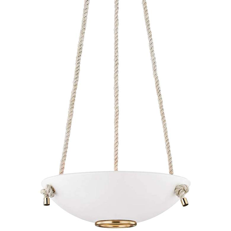 "Plaster No.2 18"" Wide Aged Brass Pendant Light"