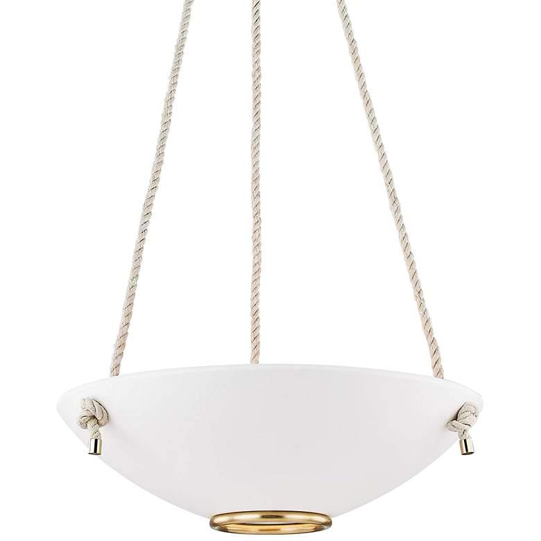 "Plaster No.2 24"" Wide Aged Brass Pendant Light"