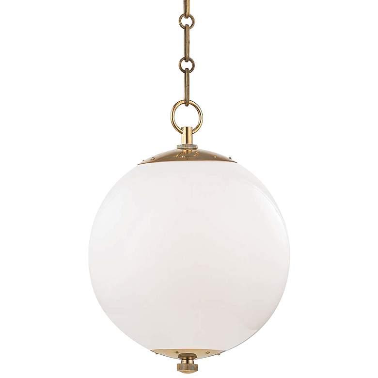 """Sphere No.1 11 1/2"""" Wide Aged Brass Mini Pendant"""