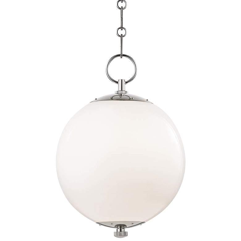 "Sphere No.1 11 1/2"" Wide Polished Nickel Mini Pendant"