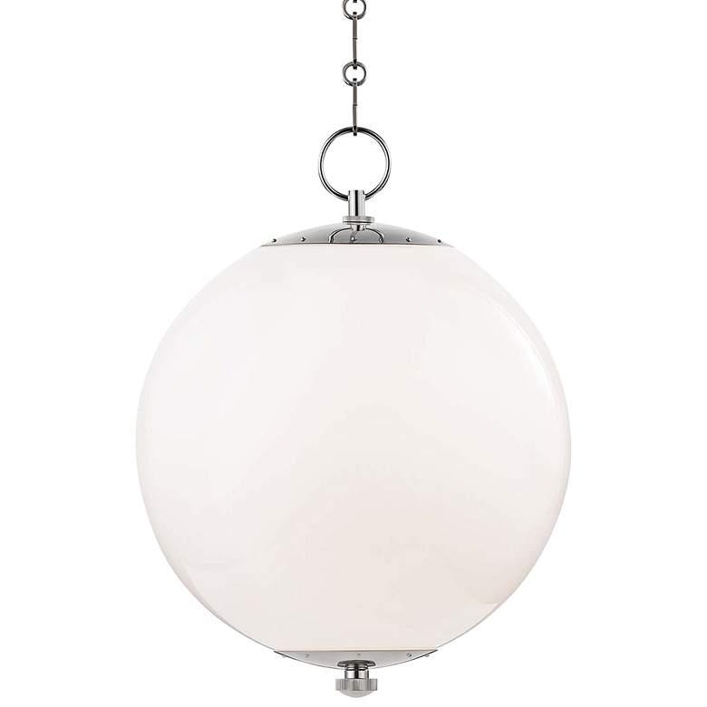 "Sphere No.1 16"" Wide Polished Nickel Pendant Light"