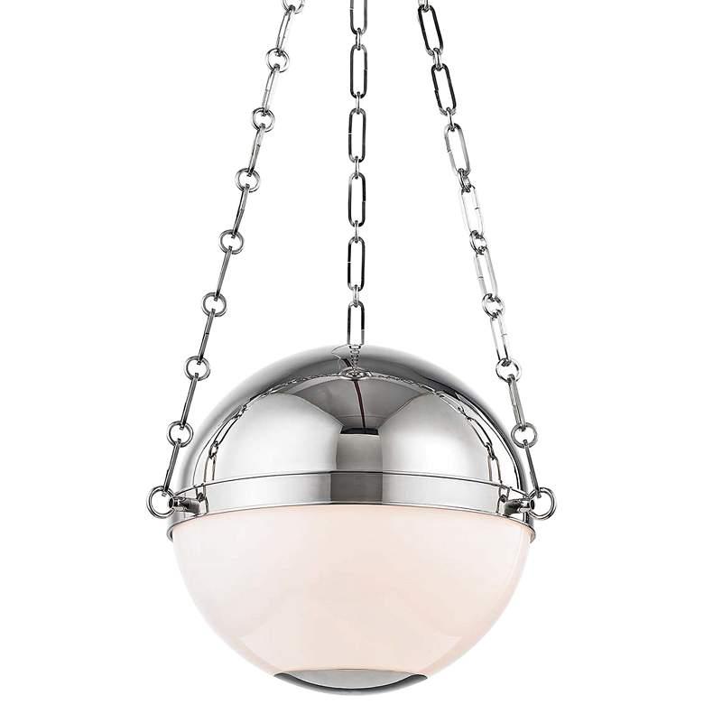 "Sphere No.2 16 1/2"" Wide Polished Nickel Pendant Light"