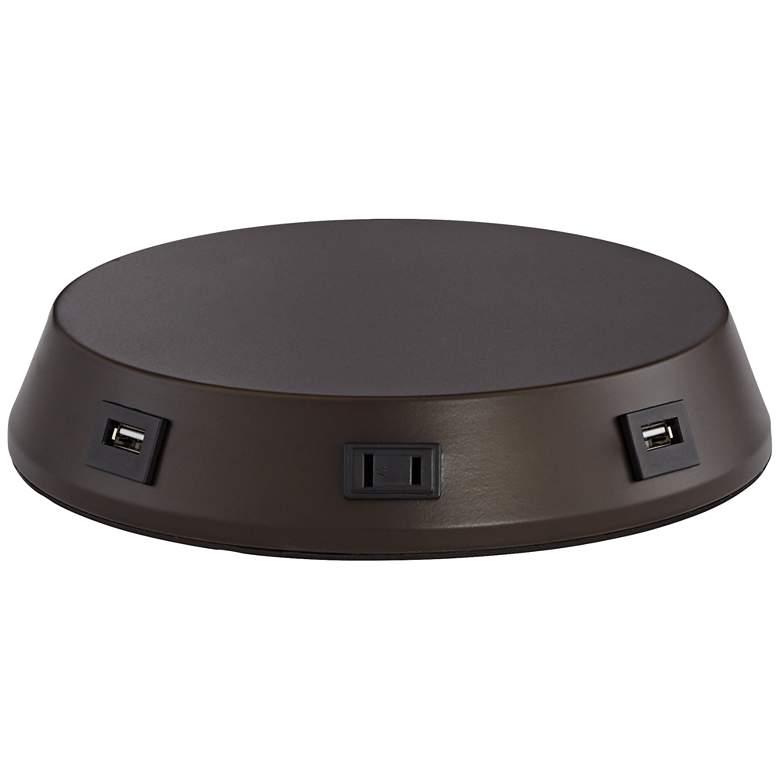 Charging USB-Outlet Touch Sensor Bronze Workstation Base