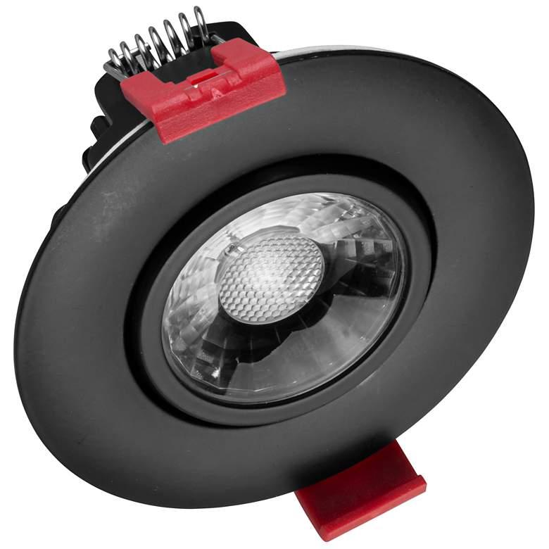 "Nicor 3"" Black Residential LED Gimbal Recessed Downlight"
