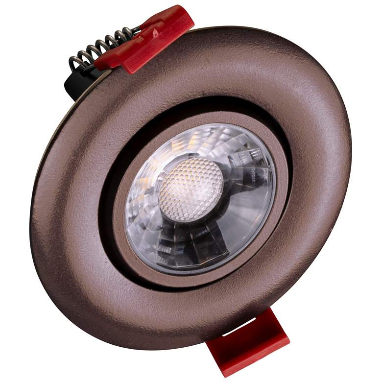 "Nicor 3"" Oil-Rubbed Bronze LED Gimbal Recessed Downlight"