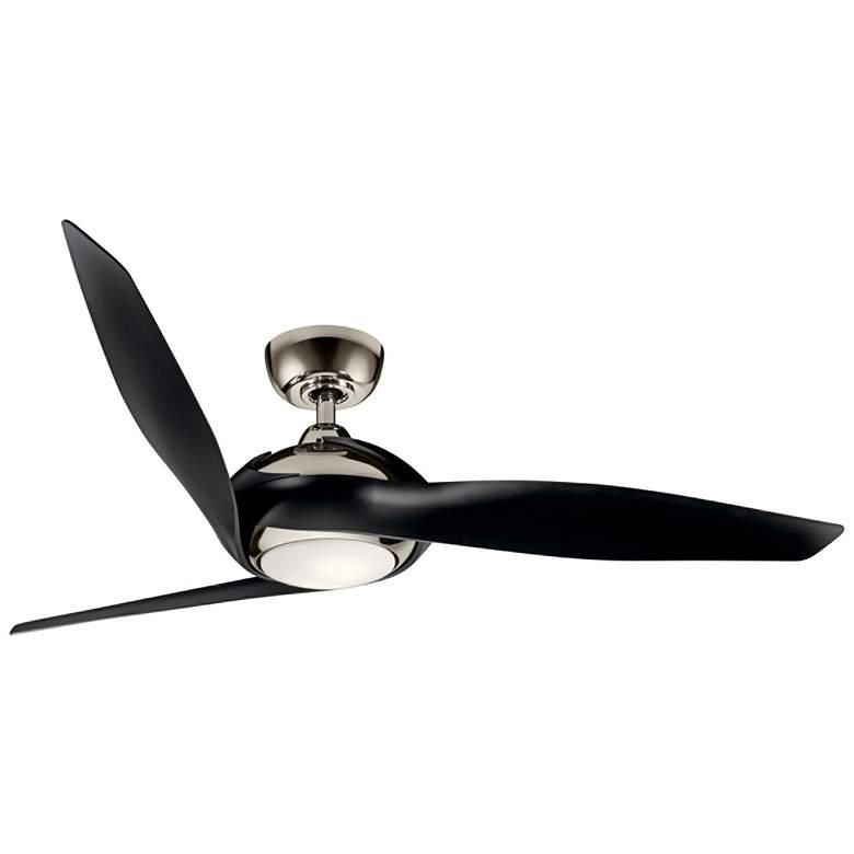 "60"" Kichler Zenith Polished Nickel LED Ceiling Fan"