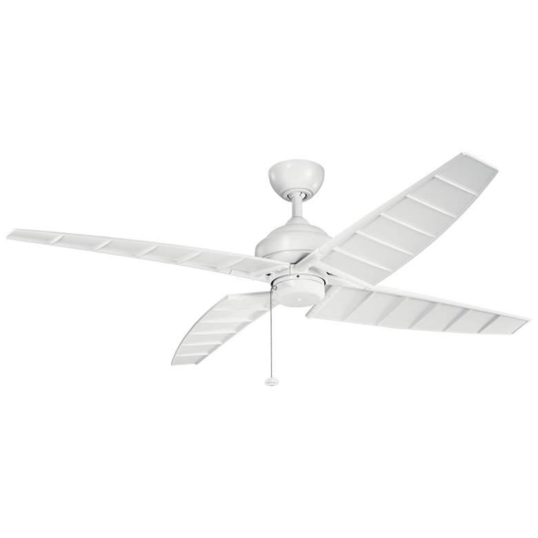 """60"""" Kichler Surrey Climates Matte White Ceiling Fan"""