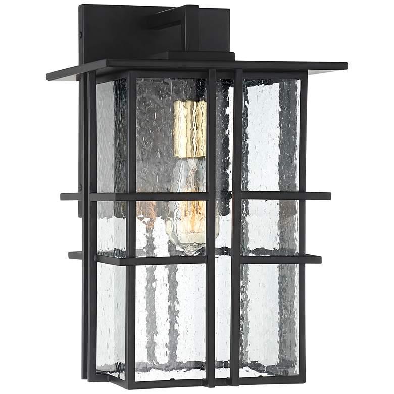 "Possini Euro Arley 16"" High Black Outdoor Wall Light"