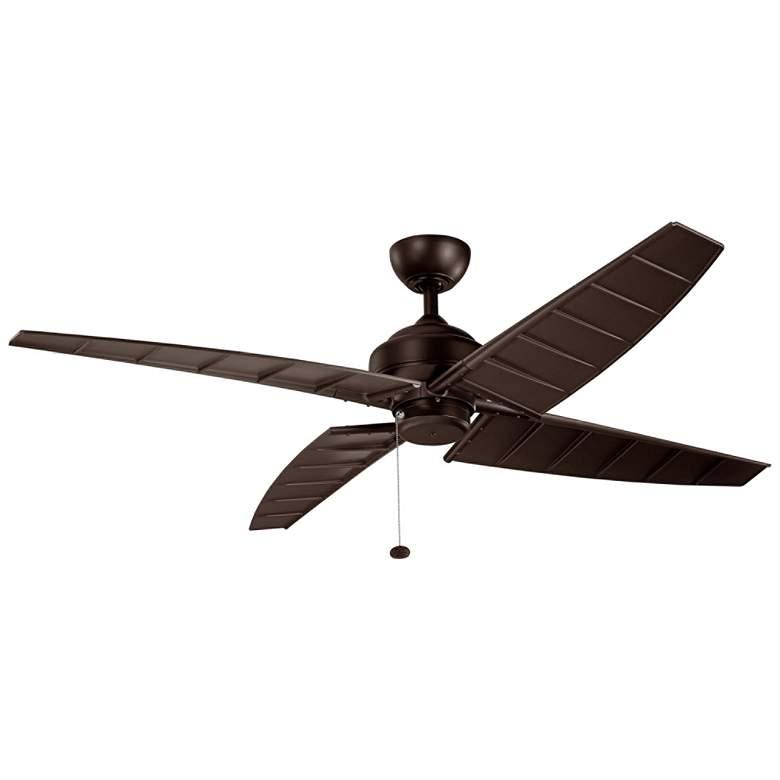 """60"""" Kichler Surrey Climates Satin Natural Bronze Ceiling Fan"""