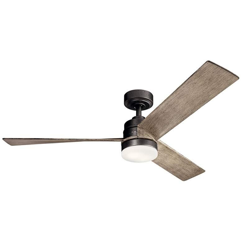 """52"""" Kichler Spyn Anvil Iron LED Ceiling Fan"""