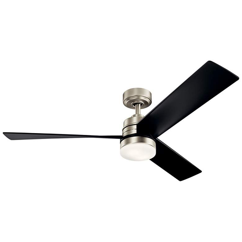 "52"" Kichler Spyn Brushed Nickel LED Ceiling Fan"