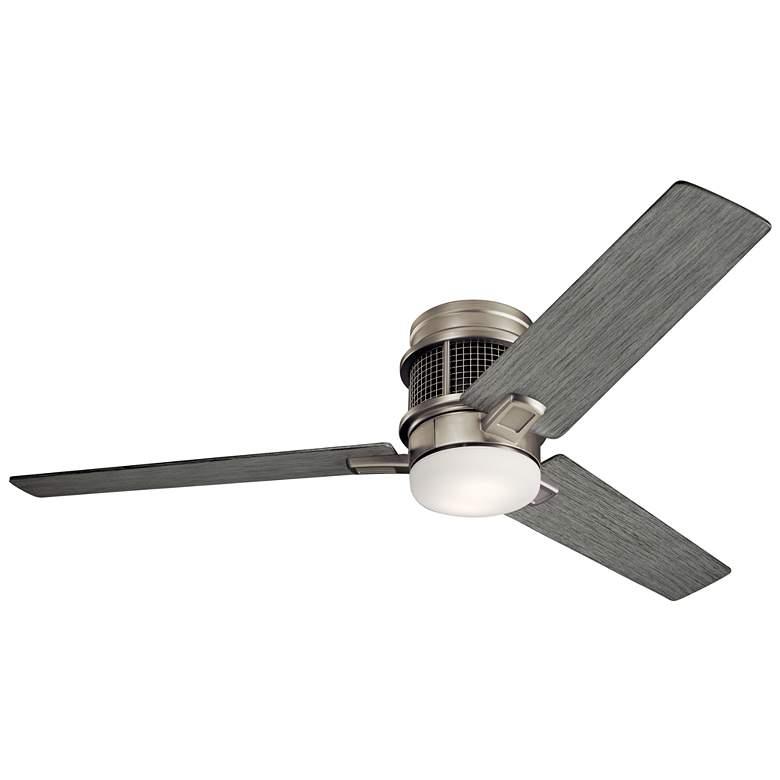 "52"" Kichler Chiara Brushed Nickel LED Hugger Ceiling Fan"