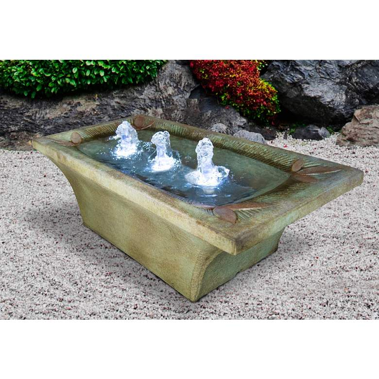 "Deco Motif 13"" High Relic Hi-Tone LED Outdoor Fountain"