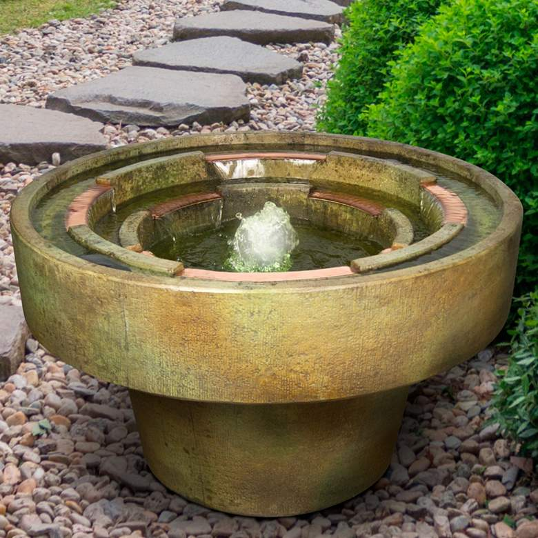 """Infinity 20 1/2"""" High Relic Nebbia LED Outdoor Fountain"""