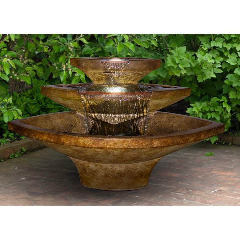 "Henri Studio Kayak 32"" High Relic Lava LED Outdoor Fountain"
