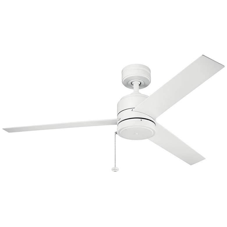 "52"" Kichler Arkwet Climates™ Matte White Ceiling Fan"