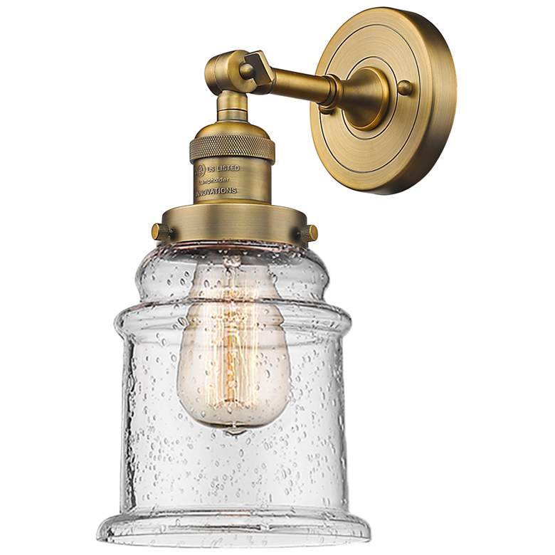 """Canton 11"""" High Brushed Brass Adjustable Wall Sconce"""