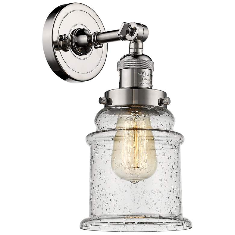 "Canton 11"" High Polished Nickel Adjustable Wall Sconce"