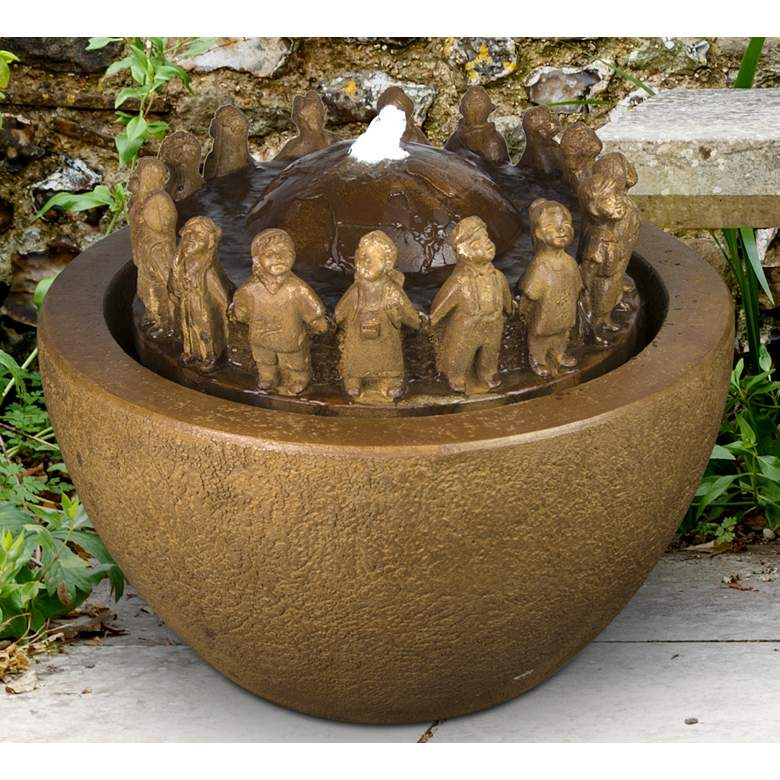 """Fountain of Youth 17"""" High Relic Oak LED"""