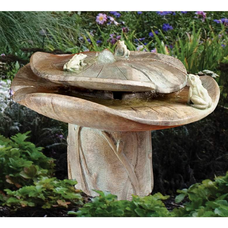 """Frog Buddies 21"""" High Relic Hi-Tone LED Outdoor Fountain"""