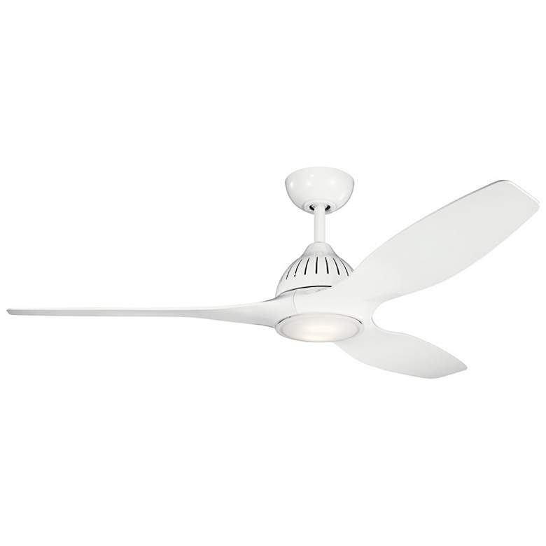 "60"" Kichler Jace White LED Ceiling Fan"