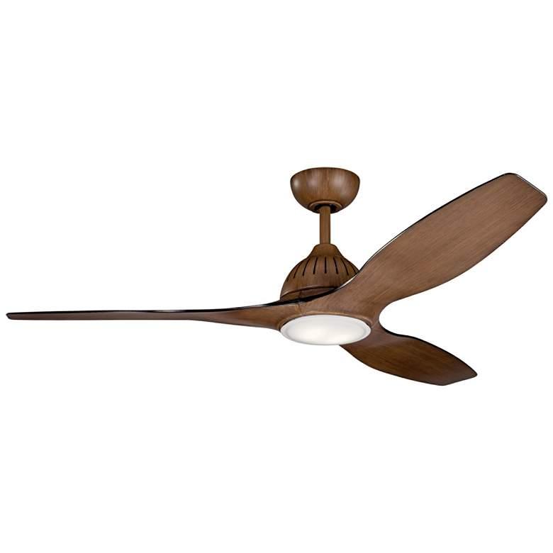 """60"""" Kichler Jace Walnut LED Ceiling Fan"""