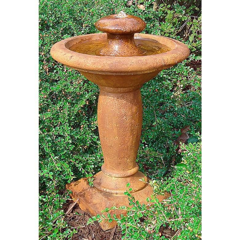 """Europa 28"""" High Relic Terra LED Bubbler Outdoor Fountain"""