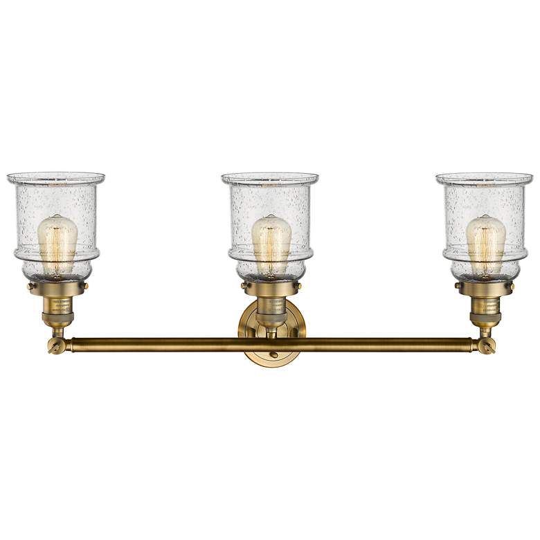 "Canton 30"" Wide Brushed Brass 3-Light Adjustable Bath"
